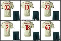14 15 AC milan away soccer uniforms Golden Torres Kaka montolivo el shaarawy honda Menez Abate jersey and short,cusotm free