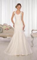Classical Elegant Mermaid Spaghetti Strap V Neck sleeveless Lace Bridal Gowns Wedding Dress 2014 NEW CUSTOM MADE SIZE&COLOR