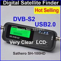 wholesale SATHERO SH-100HD DVB S2 Satellite Finder Digital Satellite Finder&Meter LCD Display USB 2.0