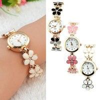 2014 New Fashion Women Wristwatch Gold Crystal Quartz Rhinestone Dial Crystal Wrist Chain Lady Girl Watch