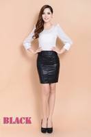 2014 New Women skirts Female poular leather A-line skirt Plus size Slim Pencil skirt Free shipping Women clothing