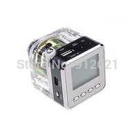 TT028 MINI Multimedia SPEAKER LCD USB FM Radio for Micro TF/SD MP3 USB Black