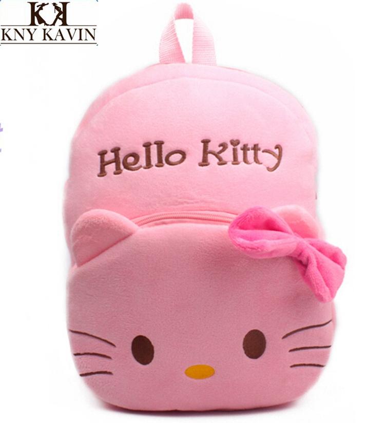 Bow olá Kitty gato brinquedos de pelúcia caricatura saco mochila crianças mochilas escolares para crianças rosa mochilas crianças 3-5Years de idade do bebê sacos(China (Mainland))