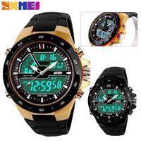 SKMEI Men Sports Watches Waterproof Fashion Casual Quartz Watch Digital Analog Military LED Multifunctional Wristwatches 1016