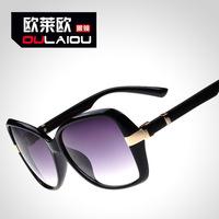 1318 high-grade brand sunglasses female Sunglasses block could marble legs big temperament woman metal