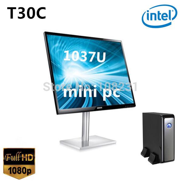 2014 Best Mini Desktop PC Computer Celeron 1037U Smart PC 2G RAM,32G SSD Mini Windows PC Thin Client 4 USB Qotom pc(China (Mainland))
