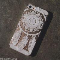 PLASTIC CASE COVER FOR IPHONE 5 5S 5C HENNA OJIBWE DREAM CATCHER Ethnic Tribal