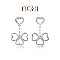 ROXI Gift Classic Genuine Austrian Crystals Fashion Purple Zircon Drop Earrings Hot Sale For Party