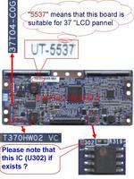 "T370HW02 VC  37T04-C0G ( with CHIP U302)  T-con for 37"" inchs auo LCD SCREEN PANEL"