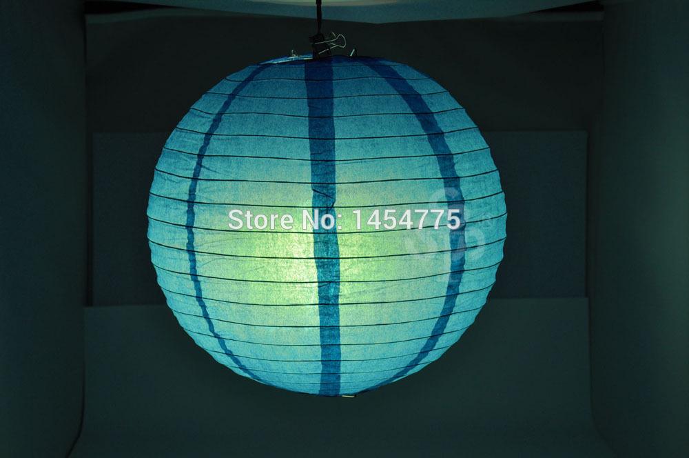1pcs 8'' 20cm Blue Chinese Paper Lantern Round Wedding Lantern Birthday Party New Year Decorations [DL02-L](China (Mainland))