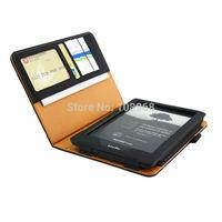 For Kindle Voyage(2014 Model)Wallet  Leather Smart Cover Case For Kindle Voyage  -Black
