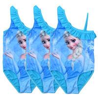 Princess Frozen Elsa Baby Girls Kids Monokini Swimwear One piece Swimming Costumes 2-8Year