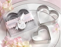 Free shipping  Wedding suppliers Silver Stainless Steel Lovely Mother & Baby Bird Cake Cookie Cutter Mold bridal shower favors