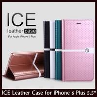 "NILLKIN ICE Series Shinning Waterproof Lattice Design Flip Leather Case for Apple iPhone 6 Plus 5.5"" + Retail + Free Shipping"