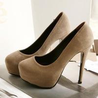 2014 new fashion thin heel round toe women pumps sexy platform high heels women shoes nude women pumps stiletto free shipping