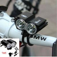 Hotest 3000 lumen LED Bike Light Bicycle Lamp Headlamp Flashlight kit Modes + rechargable Battery Pack + Charger free shipping