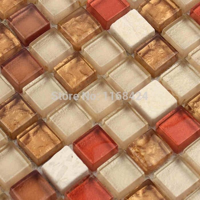 Amazing Colorful Kitchen Backsplash Tiles #7: Rojo-mezclado-de-vidrio-color-marr�n-mosaicos-para-la-cocina-backsplash-azulejos-ba�o-ducha-mejoras-para.jpg