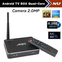 M8S Android TV Box RK3288 Quad Core Smart TV XBMC 1.8G 2G/8G HDMI H.265 WiFi Media Player Mic Camera Bluetooth 4.0 Free shipping