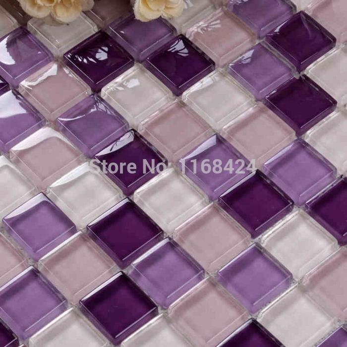Aliexpress com comprar encantadora rom ntica color p rpura brillante cuadrado azulejos de