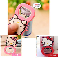 Free shipping 20pcs/lot Novelty products 2014 New Hello Kitty beer bottle opener wine fridge magnet very fashion gifts