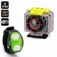New Waterproof W06 Full HD Sports Camera 5.0MP With 1080p+ Wi-Fi+Wrist Strap Remote+Mobile App+170 Degree Lens+IP68