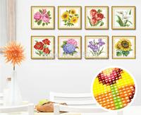 5D DIY Diamond painting crystal flowers fruit 3D cross stitch pattern diamond embroidery Rhinestone painting Home Decoration