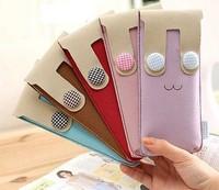 Kawaii Button Rabbit 19.5CM Kids School Stationery Pen Pencil BAG Case Pouch ; Cosmetics Purse BAG & Wallet Coin Pouch BAG Case