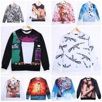 AK-47 Cup Dollar Galaxy Hip Hop Boy Cartoon Pattern Print Sweatshirt Unisex 3D Hoodies Casual Pullovers Man/Women Sportwear Tops