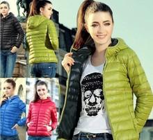 nuevo moda 2014 señoras abajo diseño corto abrigo de invierno algodón- chaqueta acolchada mujeres delgadas sólida cremallera prendas df-081(China (Mainland))
