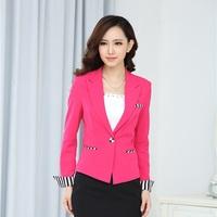 Blaser Feminino Formal Red Blazer Women Jackets Winter 2014 Business Professional Clothes Office Uniform Design