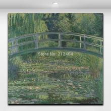 Water Lily Pond por Claude Monet pinturas famosas do mundo Wall Decor pintura de paisagem(Hong Kong)