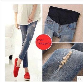 Мода джинсы беременным одежды брюки одежда для беременных беременность по беременности ...