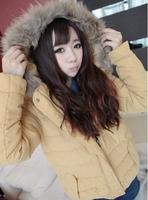 2014 NEW Fashion Women's new fur collar padded coat