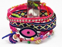 Wholesales Pink Mixed Colorful Women Magnetic Fashionable Bracelet Jewelry. Unique Evil Eyes Charm Wristband Bracelet