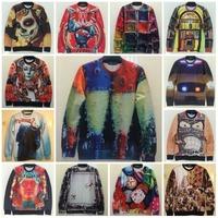 New 2015 Autumn Fashion Unisex Style Sweatshirt 3D Popular Pattern Printed Hoodies Women Sexy Sweat Man Casual Tops Size S-XL