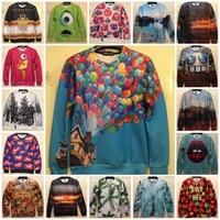 Up Bomb Eye Trees Mountain Sexy Lips Printed Sweatshirt New Fashion 3D Pattern Unisex Hoodies Women Sexy Tops Man Sportwear Coat