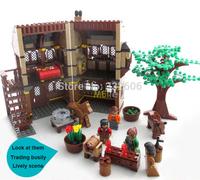 Hot Toy Ausini Building Blocks Medieval Farm Educational Bricks Toys for Children Assembling Blocks Model Building Gift