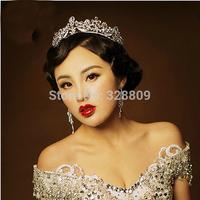 Fashion crystal Queen tiara Princess crown  cosplay  hair jewelry  wedding crown dress accessories