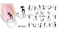Fashion 1 piece 1Sheet 3D Design Tip Nail Art Nail Sticker Nail Decal carving white snow flower nail tools 1442