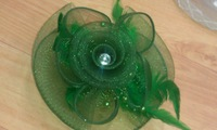 FREE SHIPPING!  New Arrival HOT sinamay fascinator in SPECIAL shape with feathers, TOP grade Handmade