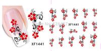 Fashion 1 piece 1Sheet 3D Design Tip Nail Art Nail Sticker Nail Decal carving white snow flower nail tools 1441