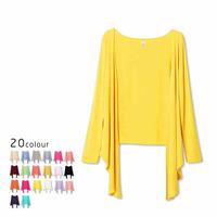 2014 spring summer women casual chiffon blouses long sleeved cardigan sweater Korean styl modal thin coat shawl tops CL136
