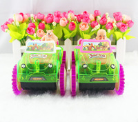 Electric toy bears a dumper with music luminous children toys and animation cartoon toy