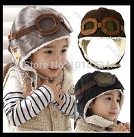 2014 NEW winter babies Hat Skullies & beanies Cute Baby Toddler Boy Girl Kids Pilot Aviator Cap Warm Hats Earflap Beanie for kid