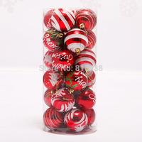 24pcs/ lot Diameter 6cm Christmas Ball Christmas Tree Decoration Party Decorating Free Shipping Wholesale Drop Shipping