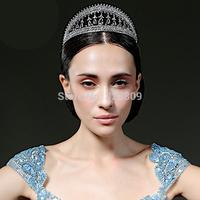 New design Exclusive starting 2 layer crystal bridal tiara beauty dancer crown Princess dancer crown  wedding  dress accessories