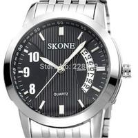 Fashion Casual Wristwatch For Lovers Full Steel Straps Calendar Dial Men Women Dress Watches Quartz Clock QZ4073