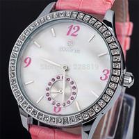 2014 New Quartz Watch Leather Straps Women Rhinestone Watches Diamante Dial Fashion Lady Watch QZ4062