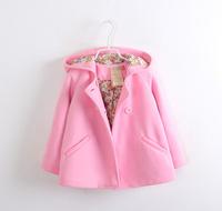 Free shipping new item 2014 children autumn  & winter woolen jacket