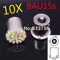 Free shipping 10X 1156 BAU15S 22 SMD 5050 Tail Turn Signal 12V LED Car Light Lamp Bulb parking car source External Lights